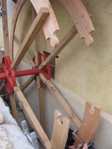 Assemblage en queue d'aronde pour la nouvelle roue en 2007